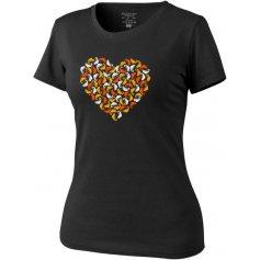 Tricko damske, Chameleon Heart, čierne, L
