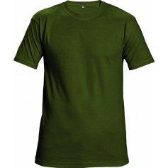 Tričko Teesta s krátkým rukávem, lahvově zelené
