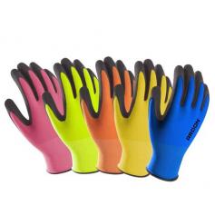 Polomáčené rukavice PETRAX s blistrem (POZOR! Každá velikost je jiné barvy! Info v popisu)