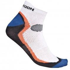 Ponožky SPORT, bílo-černo-oranžové