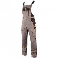 Montérkové kalhoty na šle VISION, šedo-černé