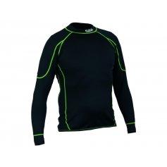 Pánské funkční triko REWARD, dl. rukáv, černo-zelené