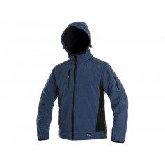 Pánská softshellová bunda DURHAM, modro-černá