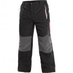 Pánské outdoorové kalhoty MONTREAL, černo-červené